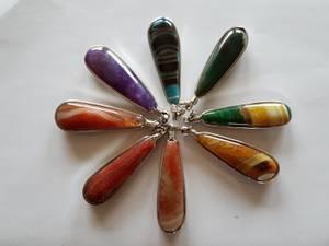 Bilde av Anheng Agat diverse farger 8