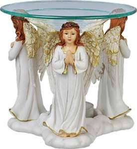 Bilde av Aromalampe med 3 engler hvite